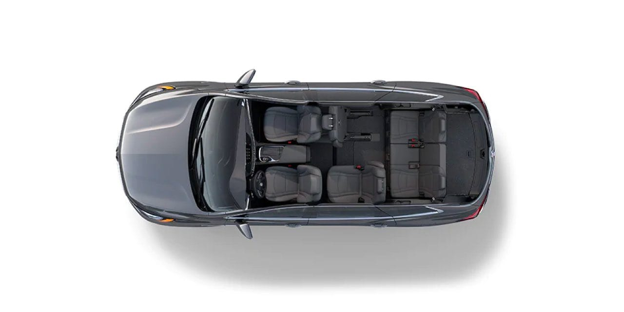 Top view of a Slate Buick Enclave