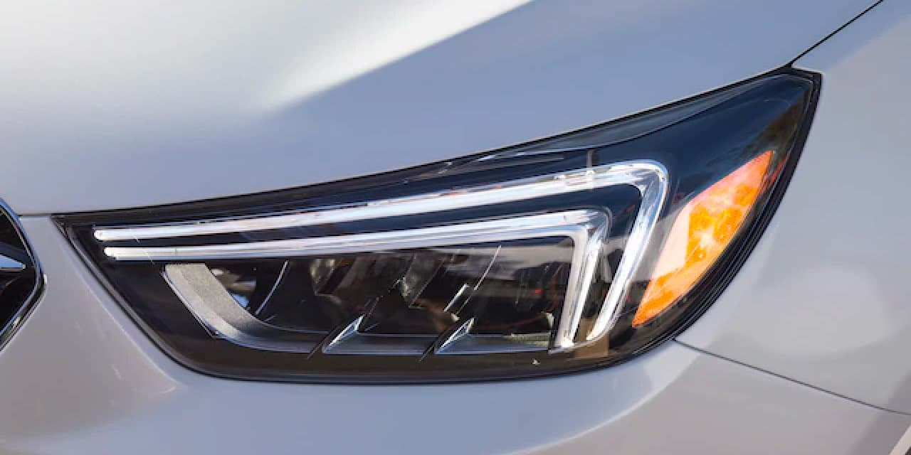 Close up of Encore headlight