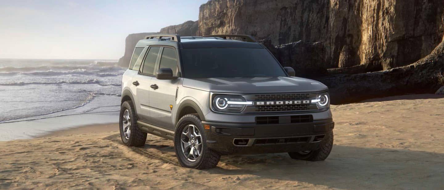 Iconic Silver Ford Bronco Sport