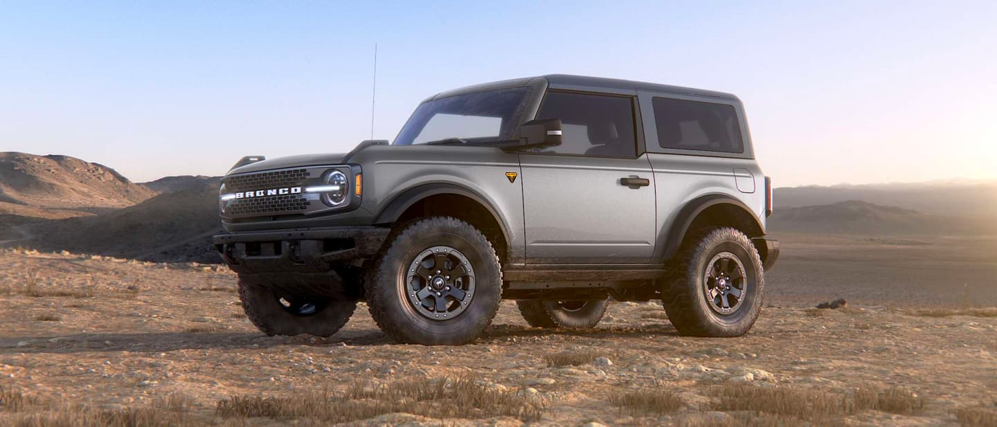 Iconic Silver Ford Bronco