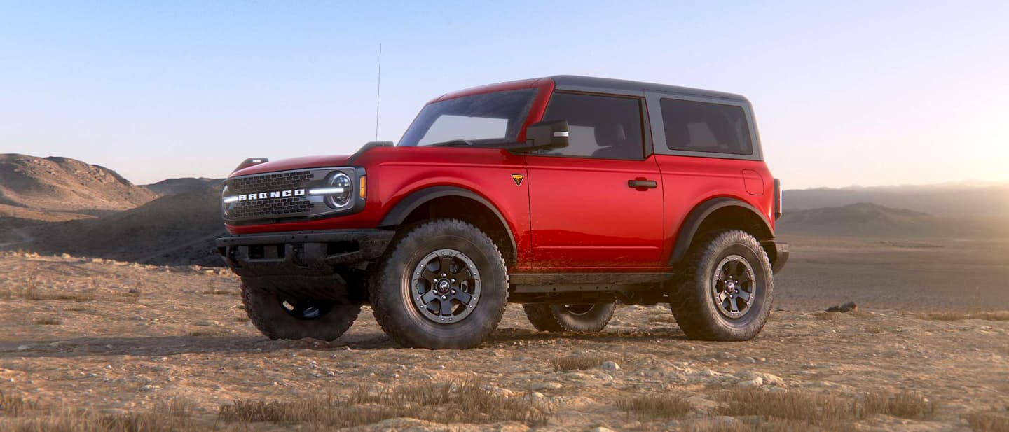 Race Red Ford Bronco