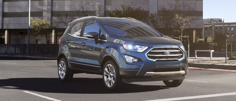 Blue Metallic Ford EcoSport