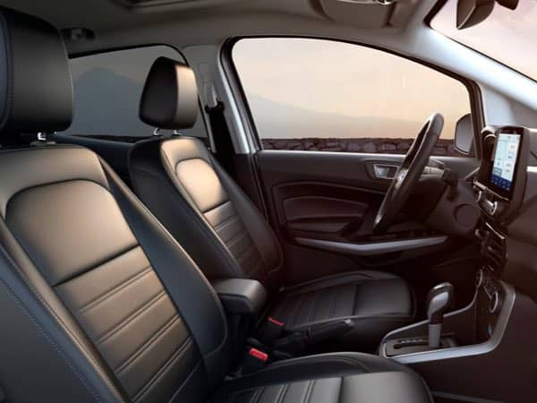 Interior front seats of a Ford EcoSport