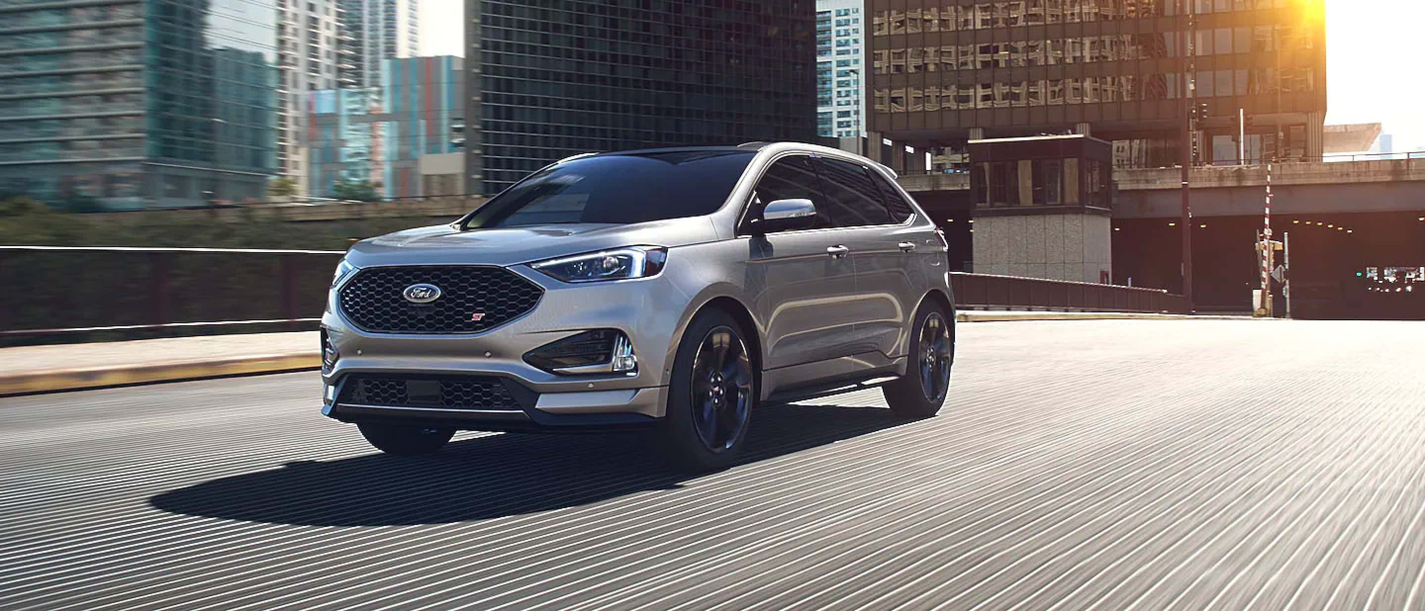 Iconic Silver Ford Edge ST