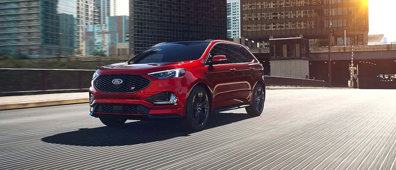 Rapid Red Metallic Ford Edge ST