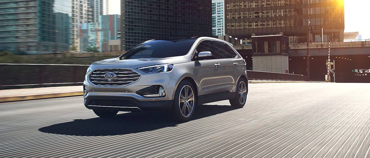 Iconic Silver Ford Edge