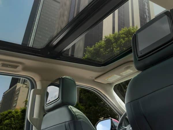 Interior view of the Ford Expedition