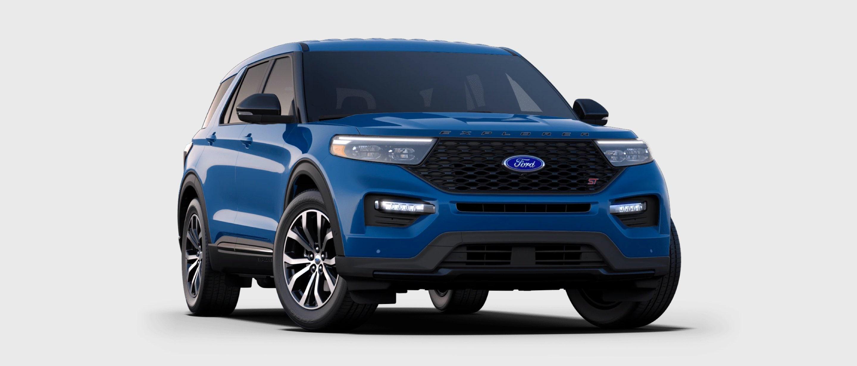 2021 Ford Explorer ST in Atlas Blue