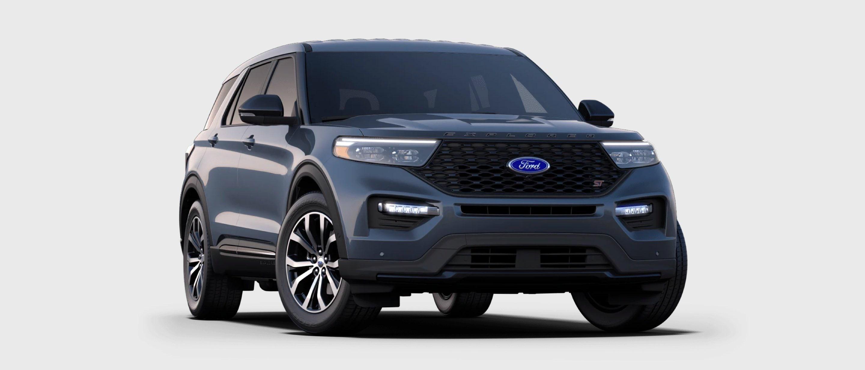 2021 Ford Explorer ST in Infinite Blue