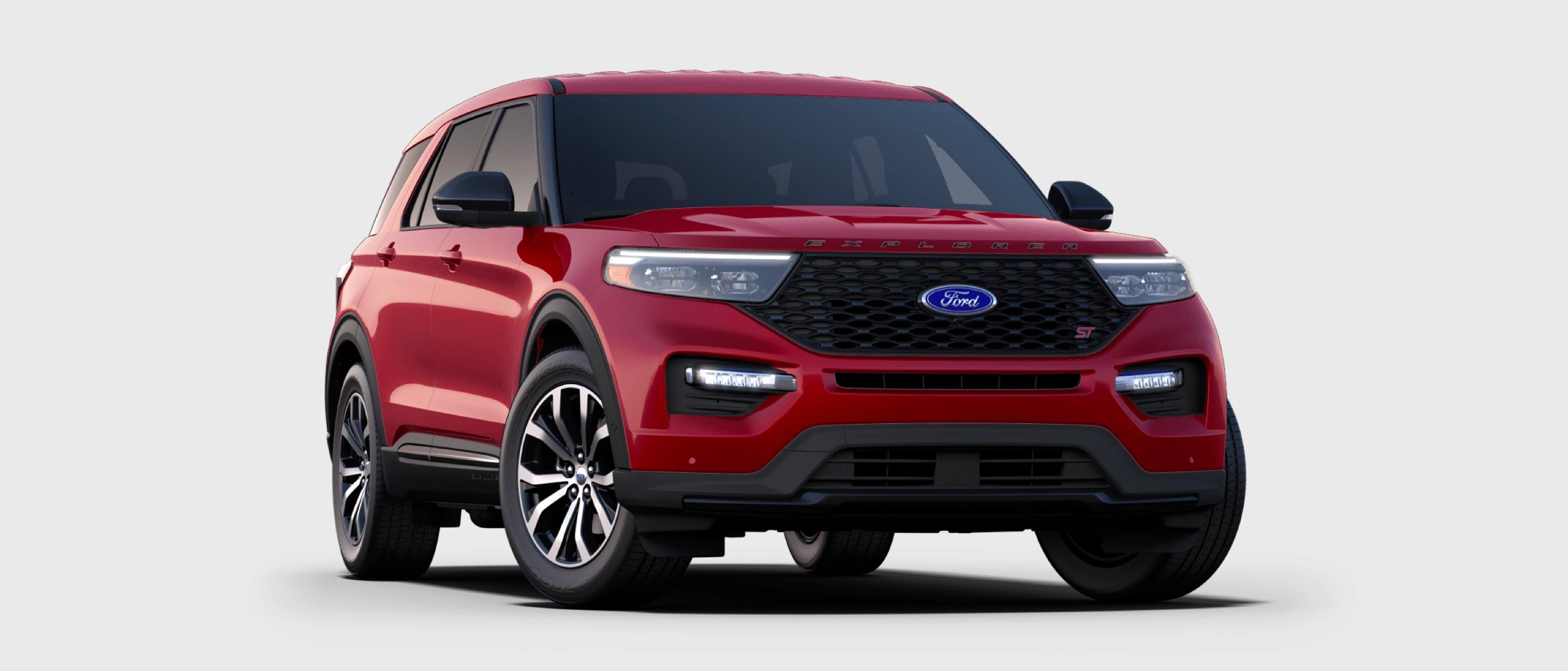 2021 Ford Explorer ST in Rapid Red