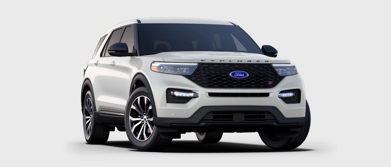 2021 Ford Explorer ST in Star White