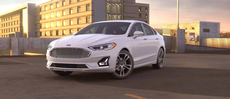 Oxford White Ford Fusion Hybrid