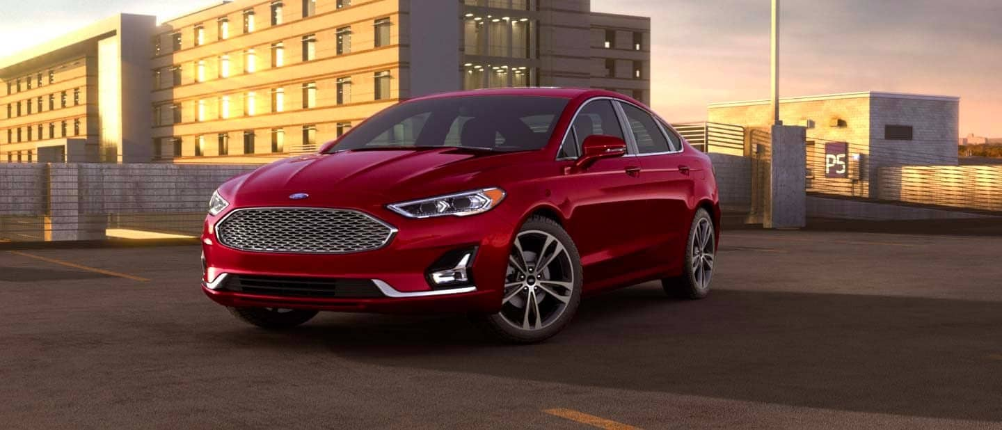 Rapid Red Ford Fusion Hybrid