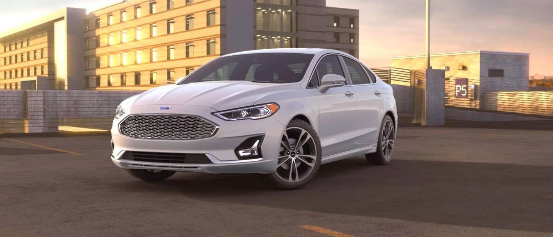 White Platinum Ford Fusion Hybrid