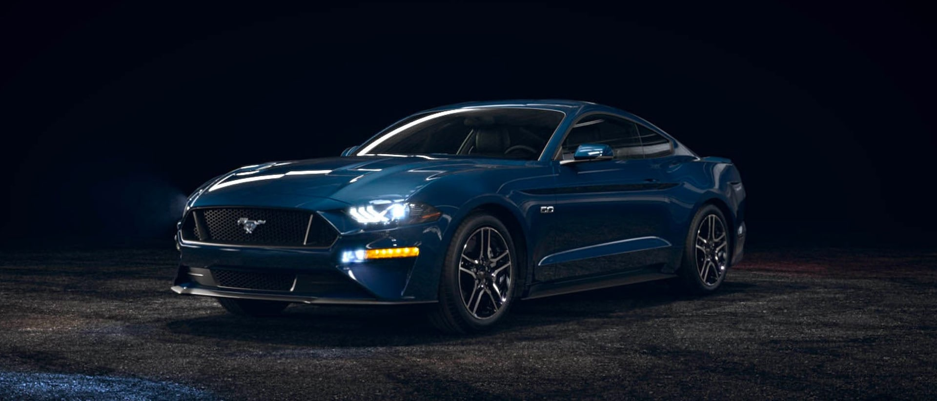 2021 Ford Mustang in Antimatter Blue