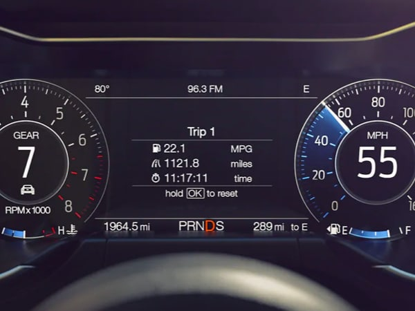 Digital Dash cluster on a 2021 Ford Mustang