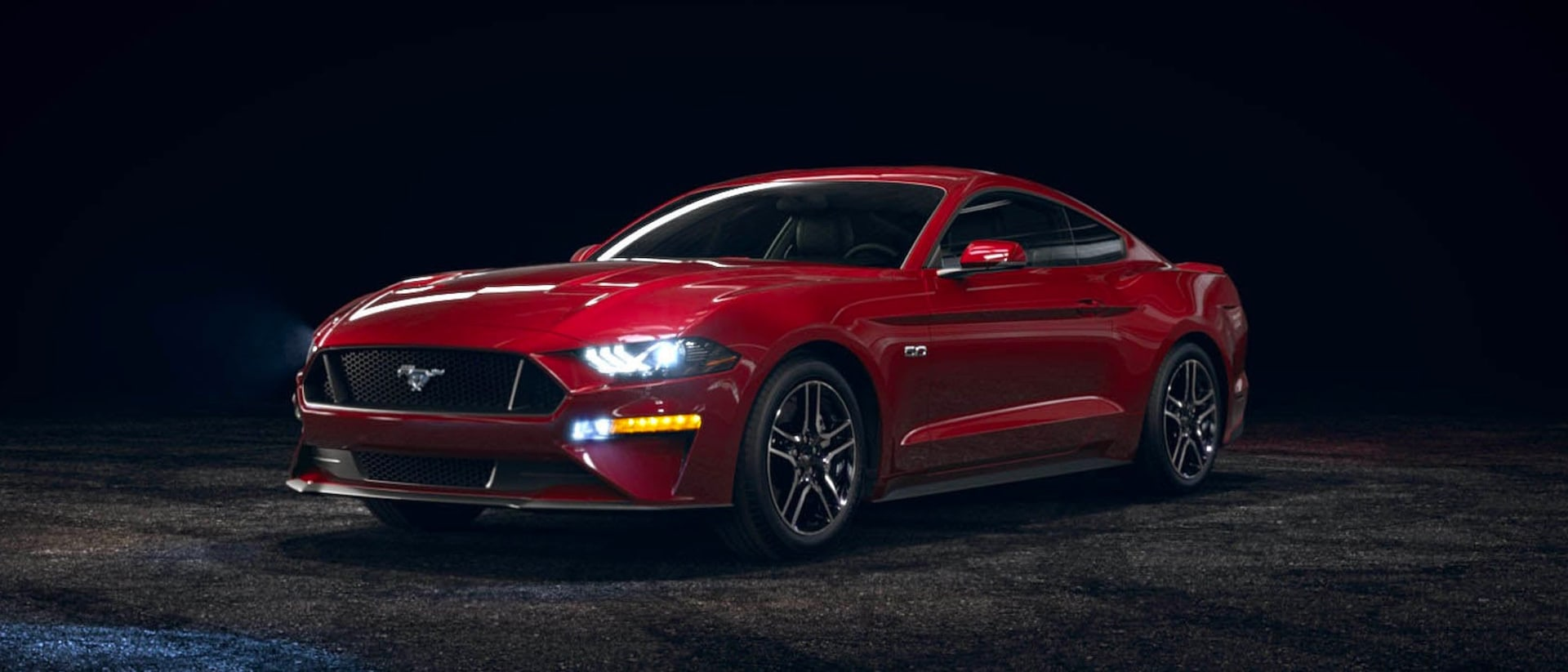 2021 Ford Mustang in Rapid Red