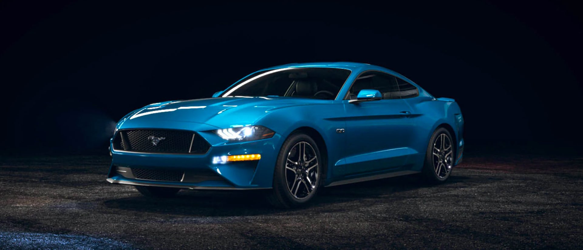 2021 Ford Mustang in Velocity Blue