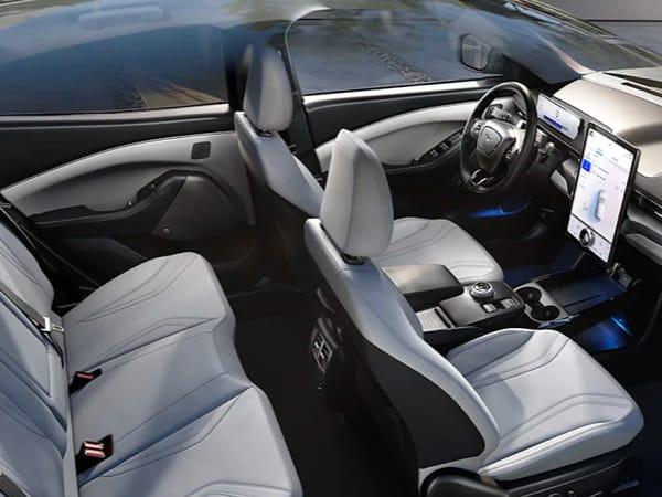Interior of Mach-E Mustang
