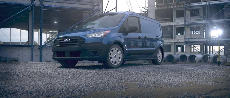 Dark Blue Ford Transit Connect Cargo Van