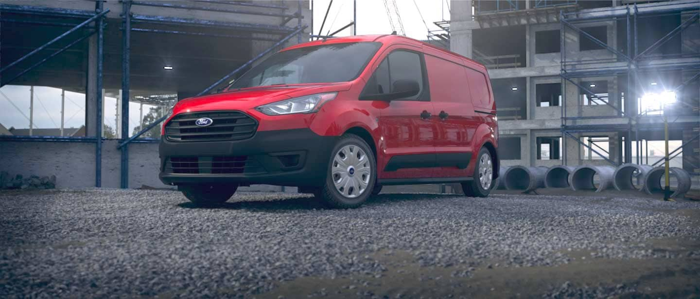 Race Red Ford Transit Connect Cargo Van