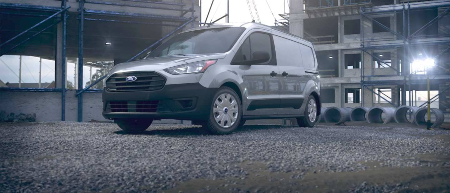 Silver Ford Transit Connect Cargo Van
