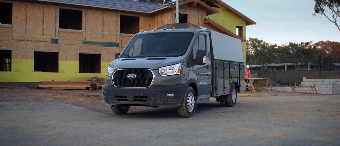 Abyss Gray Transit Cutaway and Chassis Cab