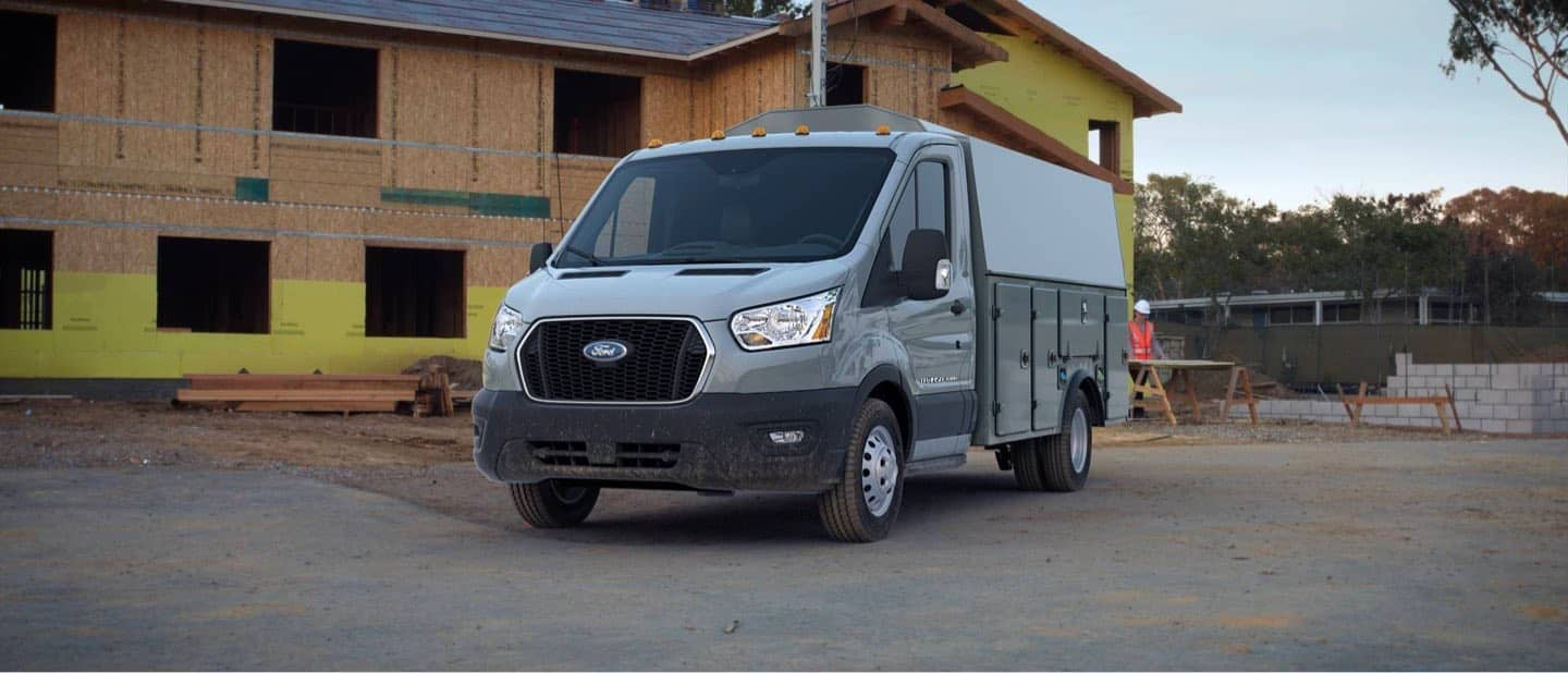 Avalanche Gray Transit Cutaway and Chassis Cab
