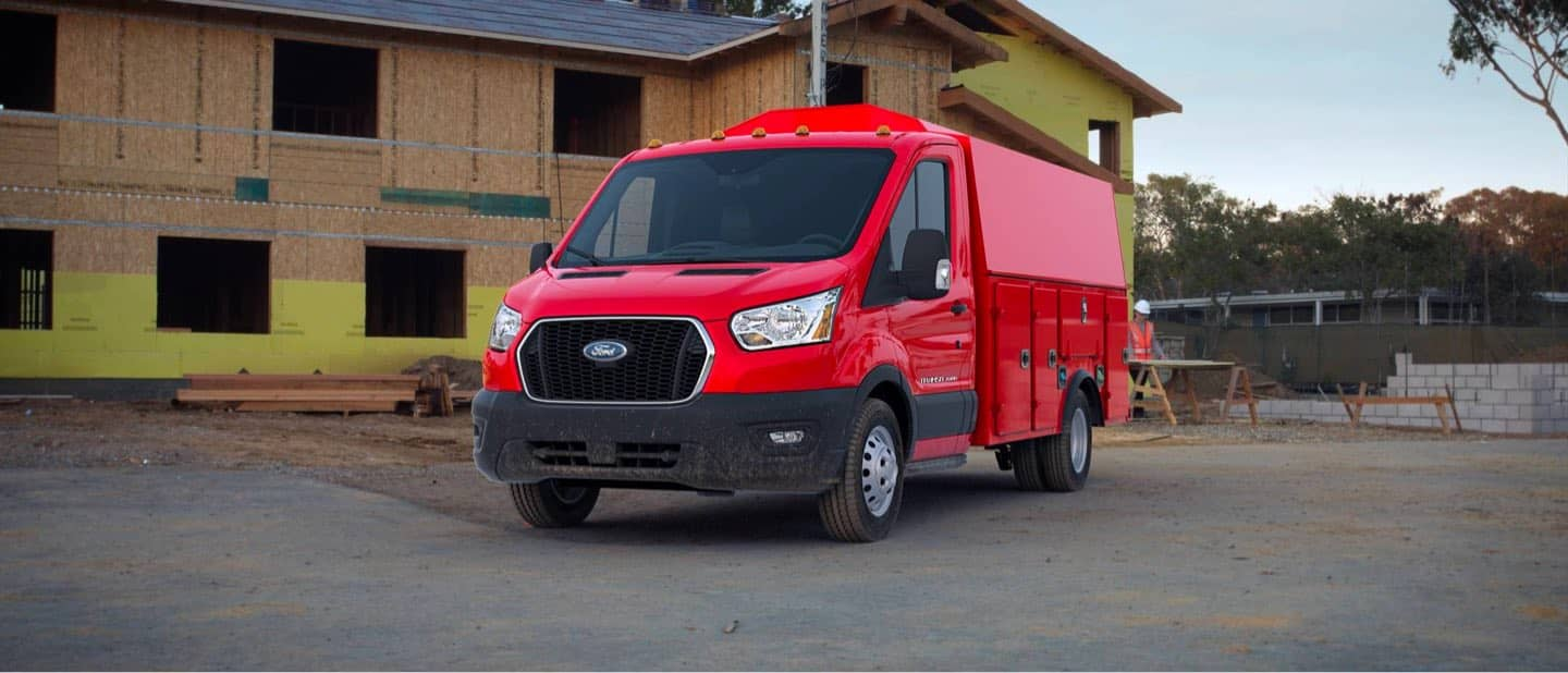 Race Red Transit Cutaway and Chassis Cab