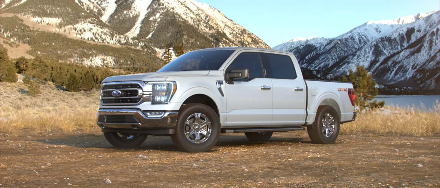 Space White Ford F-150