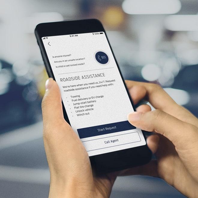 Fordpass app, roadside assistance