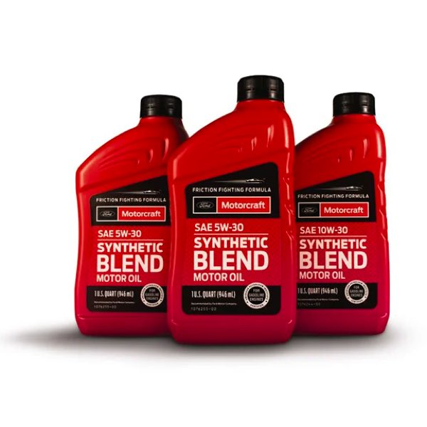 Ford approved synthetic blend motor oil