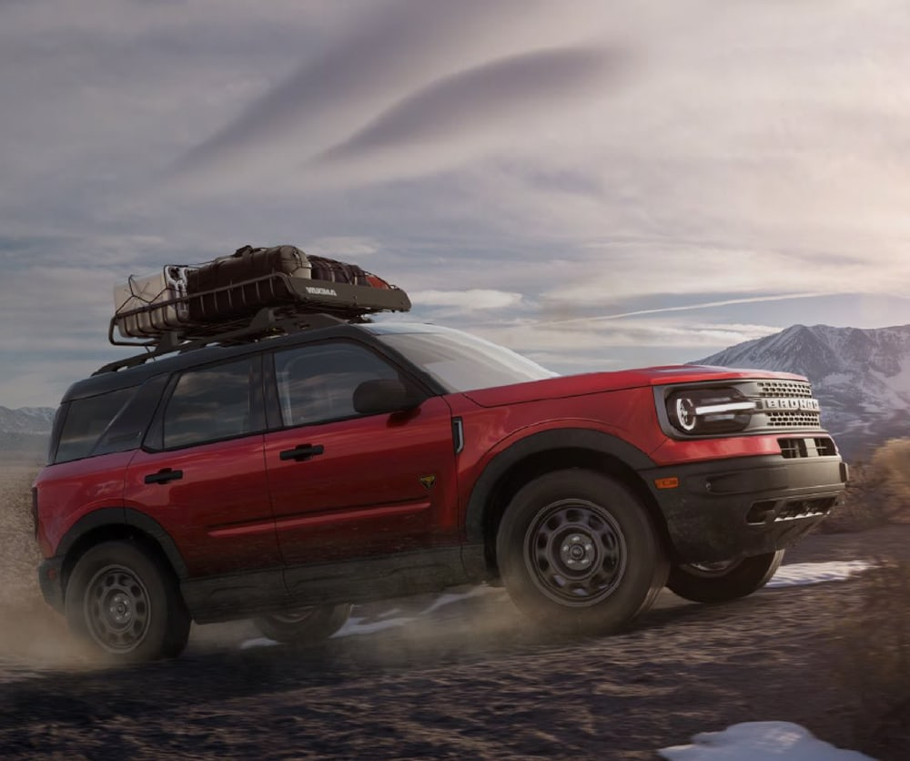 2021 Ford Bronco driving near mountains