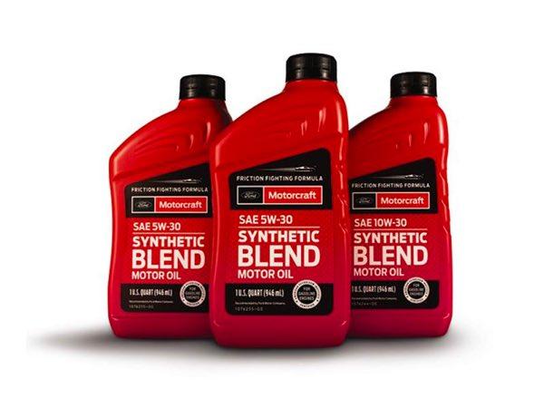 Three Synthetic Blend Motor Oil Bottles