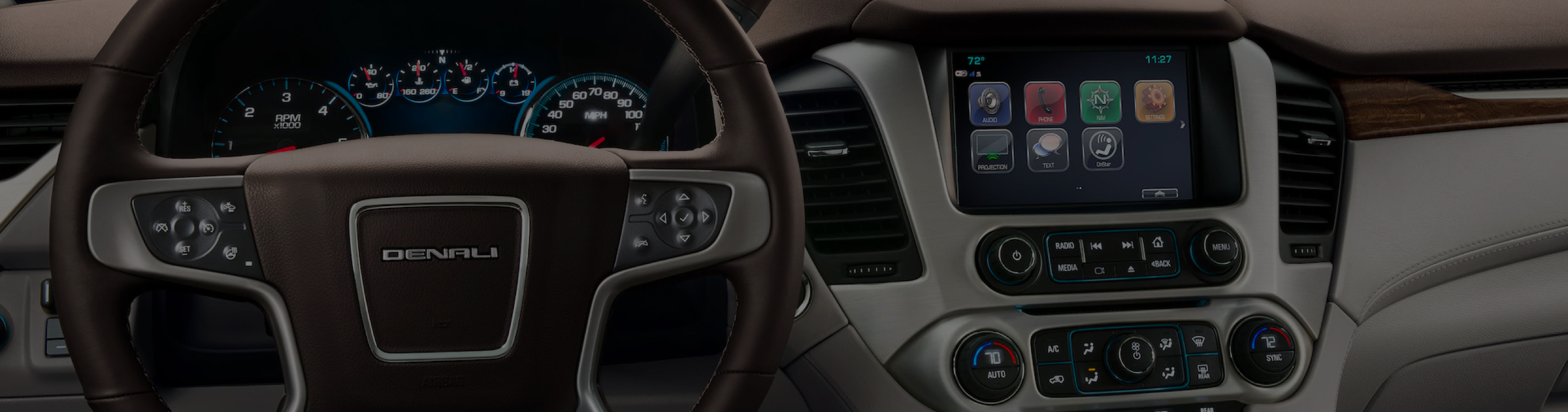 A shot of a vehicle's dashboard