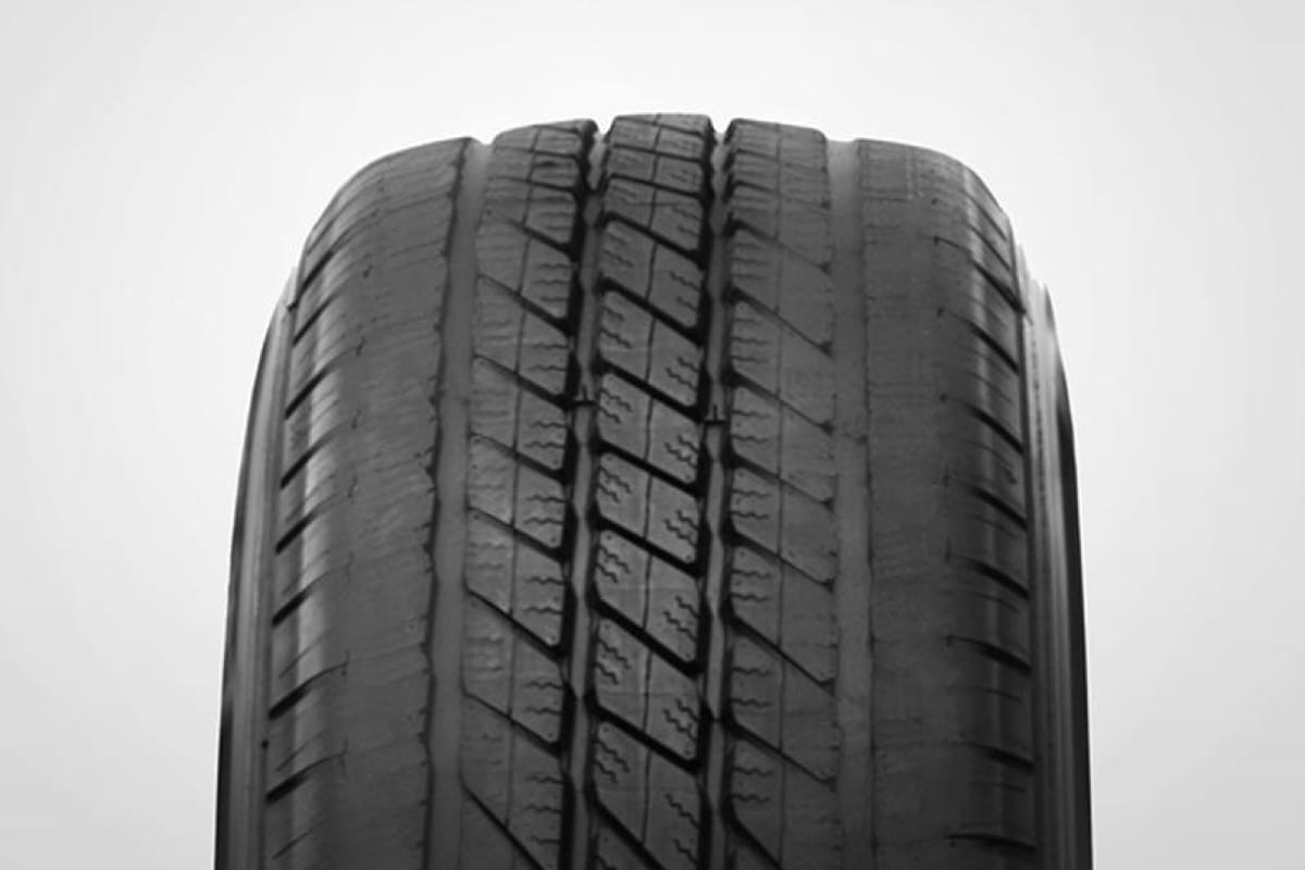 A closeup shot of a tire
