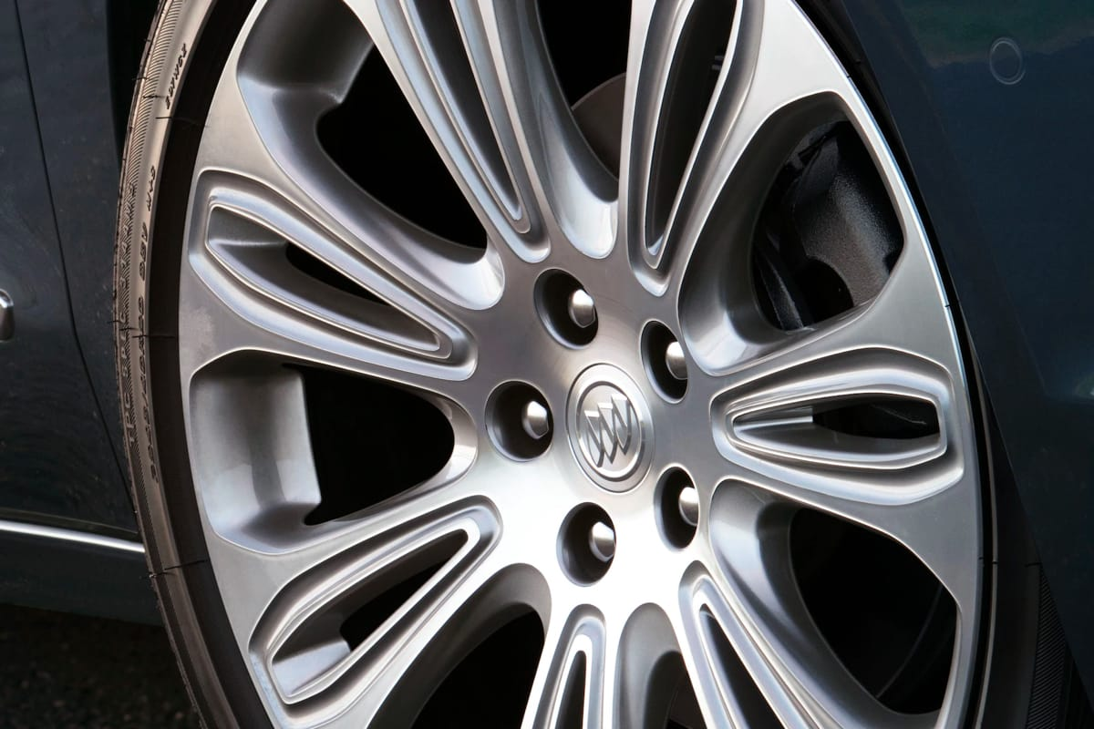 A closeup shot of a Buick's tire