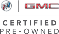 Buick GMC logo with a Certified Pre Owned Text