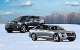 A shot of Cadillac Sedan and Crossover.