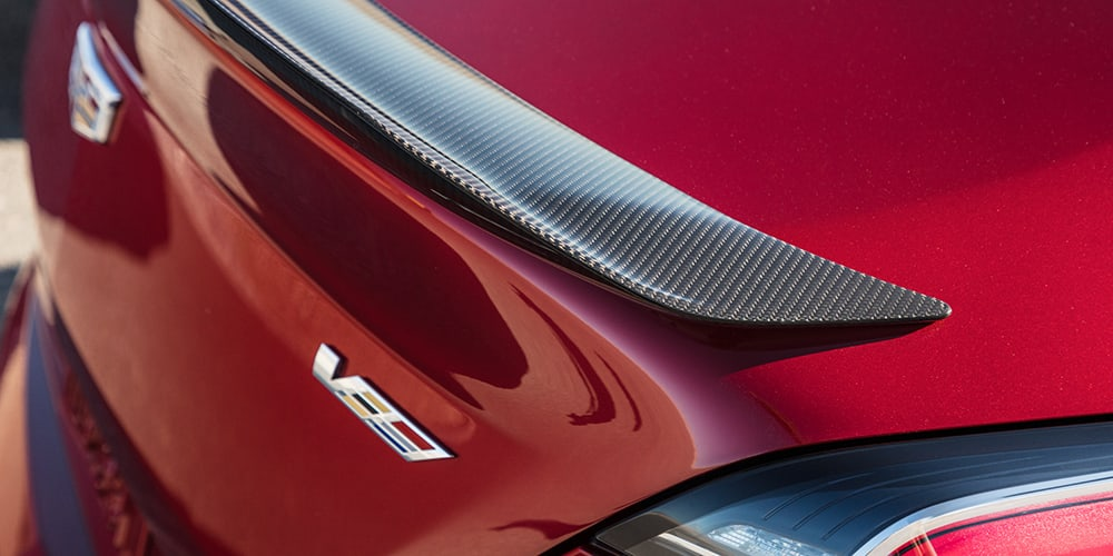 2022 Cadillac CT4-V Blackwing carbon fiber spoiler