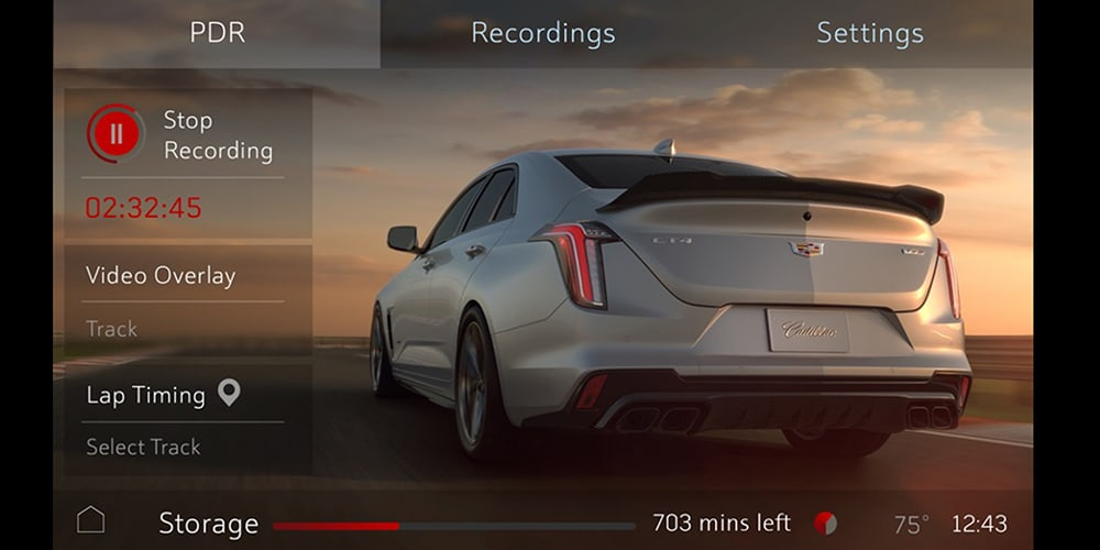 2022 Cadillac CT4-V Blackwing Performance Data Recorder