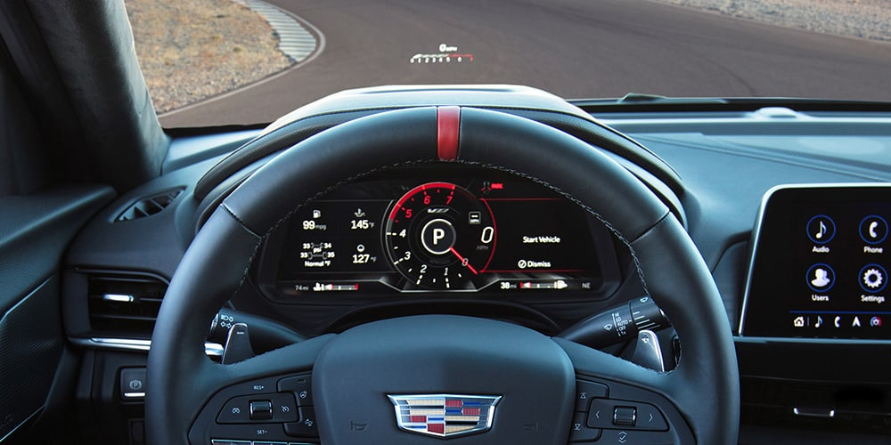 2022 Cadillac CT4-V Blackwing head-up display