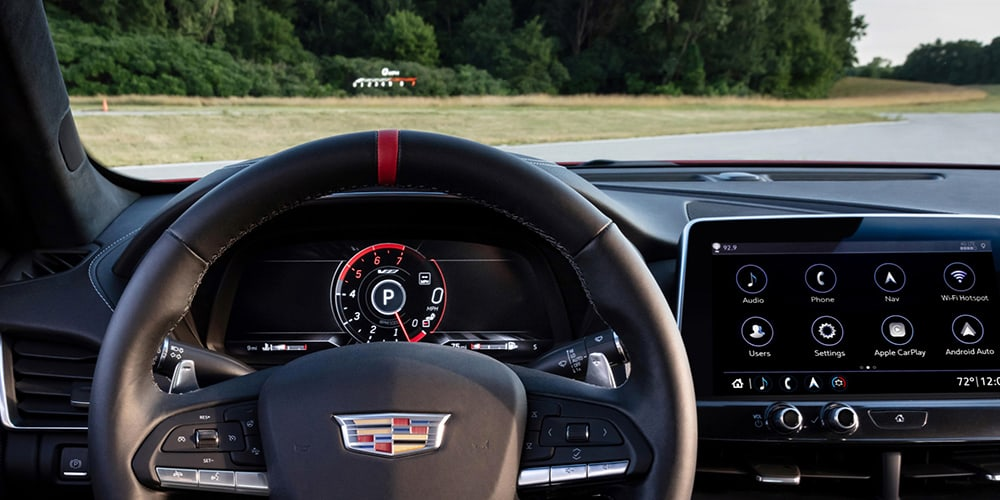 2022 Cadillac CT5-V Blackwing head up display
