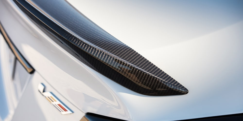2022 Cadillac CT5-V Blackwing carbon fiber spoiler