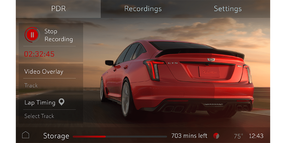 2022 Cadillac CT5-V Blackwing Performance Data Recorder