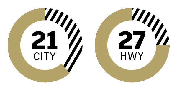 21 mpg city  27 mpg highway icon