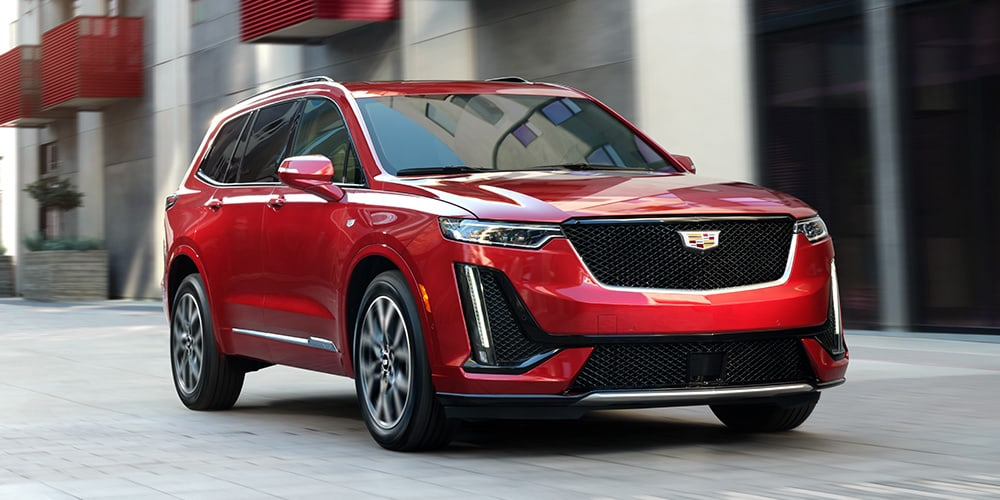 2021 Cadillac XT6 in red