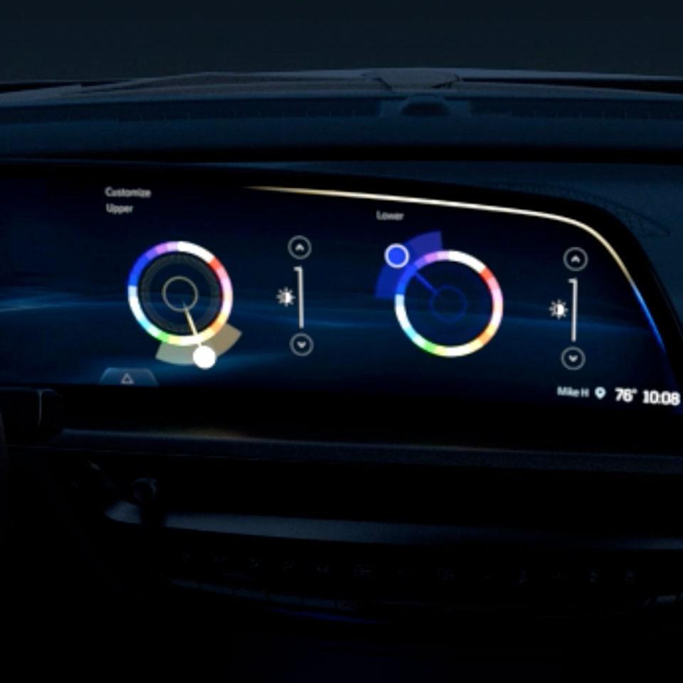 2023 Cadillac Lyriq interior ambient lighting