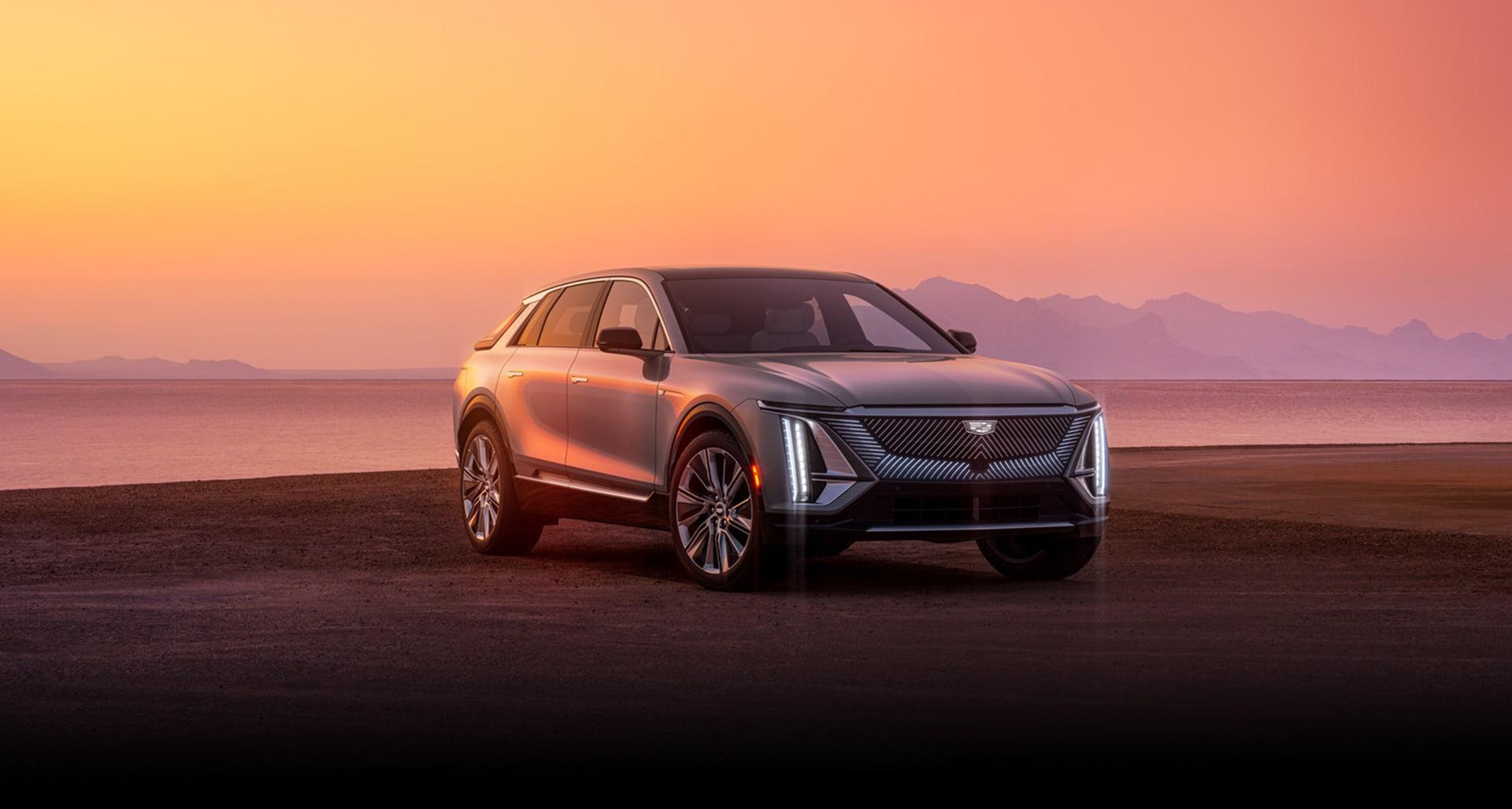 2023 Cadillac Lyriq parked on a beach