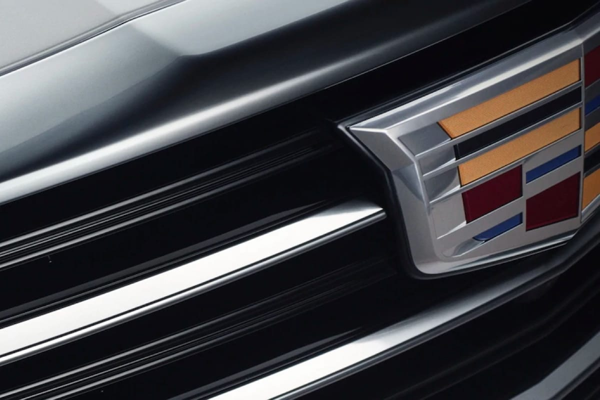 Closeup of Cadillac front grill